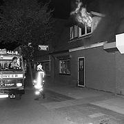 NLD/Huizen/19910720 - Brand bij kookwinkel DIMA Oude Raadhuisplein Huizen