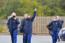 Bristol Bears Women players arrive at Shaftesbury Park - Mandatory by-line: Paul Knight/JMP - 24/10/2020 - RUGBY - Shaftesbury Park - Bristol, England - Bristol Bears Women v Loughborough Lightning  - Allianz Premier 15s