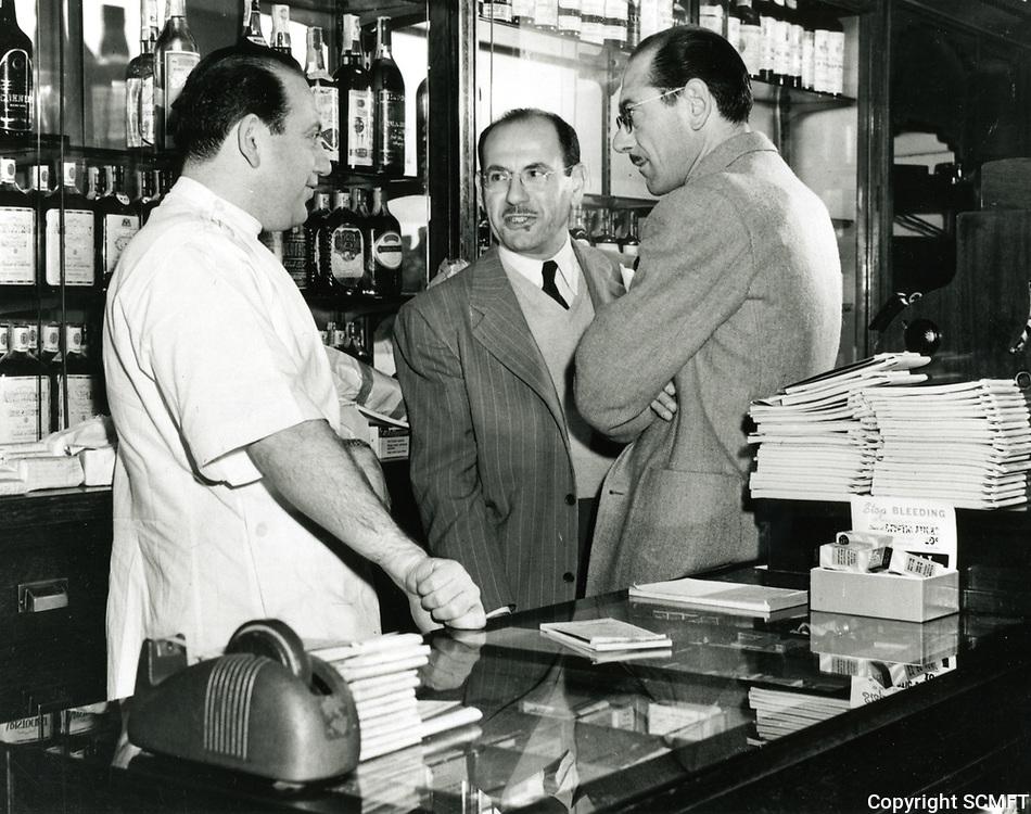 1945 Leon, Jack and Bernard Schwab at Schwab's Drugstore