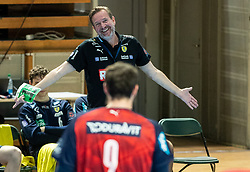 Martin Schwalb, coach of Loewen during handball match between RK Trimo Trebnje and Rhein-Neckar Loewen in 6th Round of EHF Europe League 2020/21, on February 9, 2021 in Hala Tivoli, Ljubljana, Slovenia. Photo by Vid Ponikvar / Sportida
