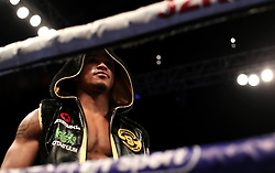 Anthony Yarde enters the ring during the WBO Intercontinental & European Light-Heavyweight Championship at The O2, London.