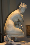 Lely's Venus (Aphrodite). Statue of the goddess Venus surprised as she bathes. Probably 1st or 2nd century AD, and is a copy of an earlier Greek original (from around 2nd century BC).