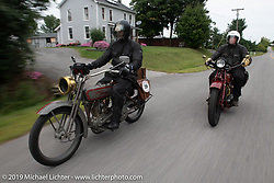 Motorcycle Cannonball coast to coast vintage run. Stage-2 (251-miles) from Keene, NH to Binghampton, NY. Sunday September 9, 2018. Photography ©2018 Michael Lichter.