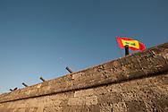On the walls of Cartagena de Indias