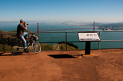Marin Headlands; sightseeing; as seen from Hawk Hill, Golden Gate Bridge, San Francisco, California, USA.  Photo copyright Lee Foster.  Photo # california107865