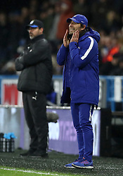 Chelsea manager Antonio Conte and Huddersfield Town manager David Wagner on the touchline