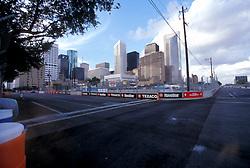 Stock photo of a corner of the designated track for the Houston Texaco Grand Prix