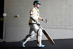© Licensed to London News Pictures. 29/12/2013. Chris Rogers walks up the players race during Day 4 of the Ashes Boxing Day Test Match between Australia Vs England at the MCG on 29 December, 2013 in Melbourne, Australia. Photo credit : Asanka Brendon Ratnayake/LNP