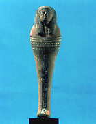 Osiris, Ancient Egyptian god. Son of Nut, brother of Set, husband of Isis, father of Horus. Wooden statue with polychrome decoration.