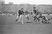 Players challenge for ball during the Kilkenny v Galway All Ireland Senior Hurling Final, 2nd September 1979.