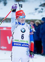 Kaisa Makarainen (FIN) during Women 12.5 km Mass Start at day 4 of IBU Biathlon World Cup 2015/16 Pokljuka, on December 20, 2015 in Rudno polje, Pokljuka, Slovenia. Photo by Urban Urbanc / Sportida