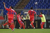 """Esultanza dopo il gol di Gonzalo BERGESSIO Catania<br /> Goal Celebration<br /> Roma 26/10/2011 Stadio """"Olimpico""""<br /> Football Calcio Serie A 2011/2012 <br /> Lazio Vs Catania<br /> Foto Insidefoto Andrea Staccioli"""