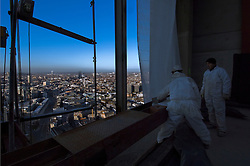 BRUSSELS, BELGIUM - APRIL-04-2007 -  A new 35 story skyscraper being built in downtown Brussels. (Photo  © Jock Fistick)