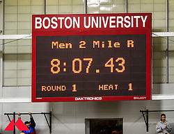 Galen Rupp set American record in 2-Mile at BU Terrier Classic Indoor Track, scoreboard with record time, Lancer TIming