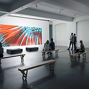 Gallery concept shoot - London UK showcasing the technology of Sony projectors. Photographed by commercial photographer Stuart Freeman.