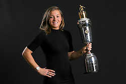 Fran Kirby with the PFA Female Player Of The Year Award Trophy during the 2018 PFA Awards at the Grosvenor House Hotel, London