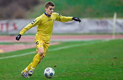 Amer Krcic of Domzale at  football match of 20th Round of First League between NK Interblock and NK Domzale, on December 5, 2009,  in ZSD Ljubljana, Ljubljana, Slovenia.  Interblock defeated Domzale 2:1. (Photo by Vid Ponikvar / Sportida)