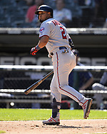 CHICAGO - AUGUST 29:  Luis Arraez #2 of the Minnesota Twins bats against the Chicago White Sox on August 29, 2019 at Guaranteed Rate Field in Chicago, Illinois.  (Photo by Ron Vesely)  Subject:   Luis Arraez