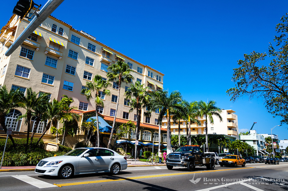 US, Florida, Miami Beach. Collins Ave.