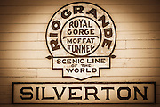 Durango & Silverton Narrow Gauge Railroad train depot, Silverton, Colorado USA