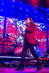 LOS ANGELES, CA - JUNE 20: Lead singer Fher Olvera of legendary Mexican Rock band Mana perfoms on stage during their Cama Incendiada Tour at Staples Center on June 20, 2015 in Los Angeles, California. Byline, credit, TV usage, web usage or linkback must read SILVEXPHOTO.COM. Failure to byline correctly will incur double the agreed fee. Tel: +1 714 504 6870.
