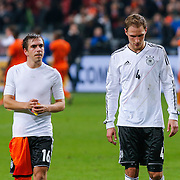 NLD/Amsterdam/20121114 - Vriendschappelijk duel Nederland - Duitsland, Phillip lahm en Benedikt Howedes