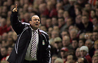 Photo: Paul Thomas.<br /> Liverpool v Barcelona. UEFA Champions League. Last 16, 2nd Leg. 06/03/2007.<br /> <br /> Rafael Benitez, manager of Liverpool.