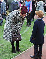National Hunt Horse Racing - 2020 Cheltenham Festival - Wednesday, Day Two (Ladies Day)<br /> <br /> Zara Phillips speaks to a young boy before the 14.10 RSA Insurance Novices Steeple Chase (Grade 1), at Cheltenham Racecourse.<br /> <br /> COLORSPORT/ANDREW COWIE