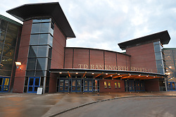 Quinnipiac University TD Banknorth Sports Center. Architectural View, Front Elevation