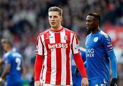 Stoke City's Kevin Wimmer and Leicester City's Wilfred Ndidi (right)