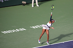 March 9, 2019 - Indian Wells, CA, U.S. - INDIAN WELLS, CA - MARCH 09: Venus Williams (USA) serves during the BNP Paribas Open on March 9, 2019 at Indian Wells Tennis Garden in Indian Wells, CA. (Photo by George Walker/Icon Sportswire) (Credit Image: © George Walker/Icon SMI via ZUMA Press)