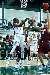 17 November 2017:  Jaylen Beasley & Ryan Stevens during an College men's division 3 CCIW basketball game between the Alma Scots and the Illinois Wesleyan Titans in Shirk Center, Bloomington IL