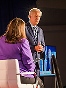 15 JULY 2019 - DES MOINES, IOWA: Former Vice President JOE BIDEN makes his presentation at the first AARP Presidential Candidate Forum in Des Moines. The forum featured Senator Cory Booker, Governor John Hickenlooper, Senator Amy Klobuchar and Vice President Joe Biden. The AARP is hosting other forums for the rest of the Democratic field in other towns in Iowa this week. Iowa hosts the first event of the 2020 Presidential election cycle. The Iowa Caucuses are on February 3, 2020.       PHOTO BY JACK KURTZ
