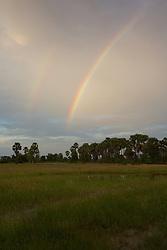 Farmland And Double Rainbow