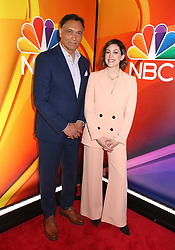NBC 2019 Upfront held at The Four Seasons Hotel on May 13, 2019 in New York City, NY ©Steven Bergman/AFF-USA.COM. 13 May 2019 Pictured: Jimmy Smits and CaitlinMcGee. Photo credit: Steven Bergman/AFF-USA.COM / MEGA TheMegaAgency.com +1 888 505 6342