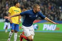 Fotball , 9. februar  2011,  Privatkamp<br /> Frankrike - Brasil<br /> GOAL KARIM BENZEMA (FRA) - <br /> Norway only