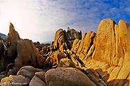 Jumbled Rock in Joshua Tree National Park in California