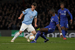 February 21, 2019 - London, Greater London, United Kingdom - Markus Rosenberg and Antonion Rudiger during UEFA Europa League Round of 32 2nd Leg between Chelsea and Malmo FF at Stamford Bridge stadium, London, England on 21 Feb 2019. (Credit Image: © Action Foto Sport/NurPhoto via ZUMA Press)