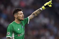 Dynamo Kyiv goalkeeper Denys Boyko during the UEFA Champions League play offs round first leg match between Ajax Amsterdam and Dynamo Kyiv at the Johan Cruijff Arena on August 22, 2018 in Amsterdam, The Netherlands