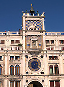 St. Mark's Clock is housed in the Clock Tower on the Piazza San Marco in Venice, Italy. Also featured in the tower is the Lion of Venice