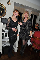 Left to right, DANKA BLAIS and DEBBIE MOORE at Shepherd's Delight an evening of Dinner & Entertainment in aid of The National Youth Theatre of Great Britain held at Shepherd's, Marsham Street, London on3rd December 2012.