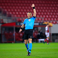 PIRAEUS, GREECE - FEBRUARY 25: Referee Björn Kuipers during the UEFA Europa League Round of 32 match between Arsenal FC and SL Benfica at Karaiskakis Stadium on February 25, 2021 in Piraeus, Greece. (Photo by MB Media)