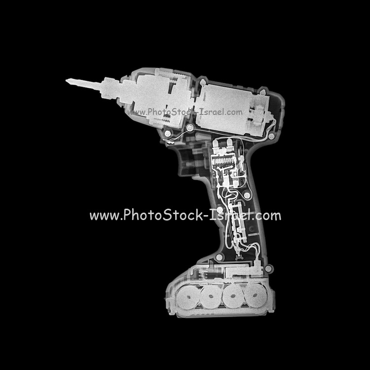 x-ray of a wireless drill