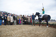 Colonial Cup - Camden, South Carolina. Willie Mccarthy and connections celebrate a win.