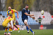 USA player Nick Civetta off loads the ball in the second half during the November Test match between Romania and USA at Ghencea Stadium, Bucharest, Romania on 17 November 2018.