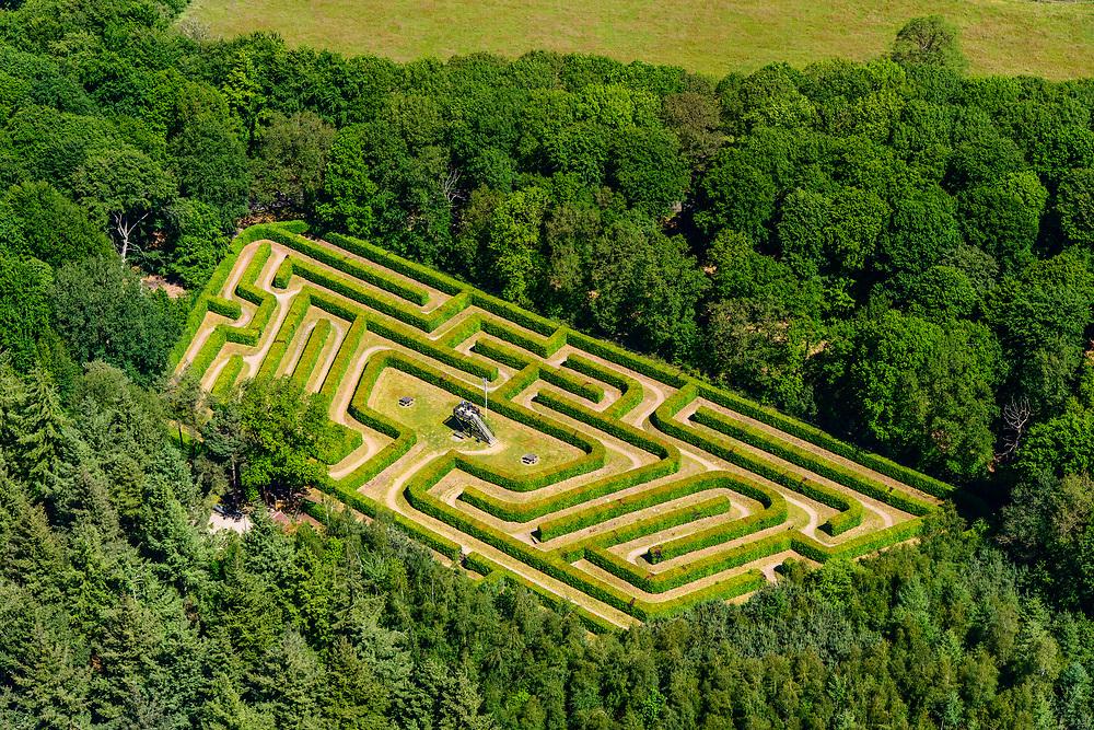 Nederland, Gelderland, Gemeente Berkelland, 29-05-2019; Achterhoek met Doolhof Ruurlo.<br /> Ruurlo labyrinth.<br /> <br /> luchtfoto (toeslag op standard tarieven);<br /> aerial photo (additional fee required);<br /> copyright foto/photo Siebe Swart