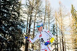 February 2, 2018 - Goms, SWITZERLAND - 180202 Anton Persson of Sweden competes in the men's 15/15 km skiathlon during the FIS U23 Cross-Country World Ski Championships on February 2, 2018 in Obergoms..Photo: Vegard Wivestad GrÂ¿tt / BILDBYRN / kod VG / 170096 (Credit Image: © Vegard Wivestad Gr¯Tt/Bildbyran via ZUMA Press)