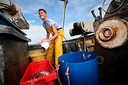 UK ENGLAND DEVON TEIGNMOUTH 10SEP16 - Fisherman  Brendon Hall (19) of Teignmouth land on his boat at Teignmouth harbour, Devon, England.<br /> <br /> jre/Photo by Jiri Rezac<br /> <br /> © Jiri Rezac 2016