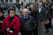 People queueing for outside Saint Martin in the Fields for a classical concert at the Crypt. London, UK.