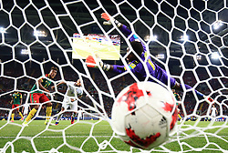 Chile's Arturo Vidal scores his side's first goal
